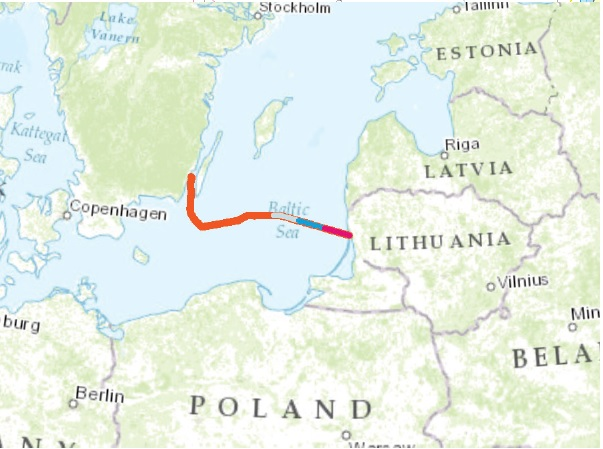 One hundred kilometres of NordBalt cable has been laid