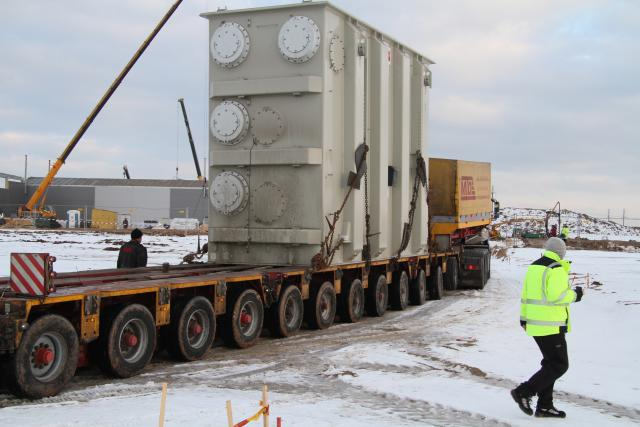 The first LitPol Link transformer arrives in Alytus