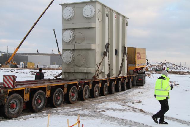 The first LitPol Link transformer arrives in Alytus