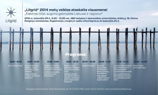 """Kvietimas į renginį """"Elektros tiltai: augimo galimybės Lietuvai ir regionui"""""""