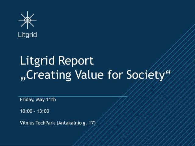 "Invitation: Litgrid Event ""Creating Value for Society"""