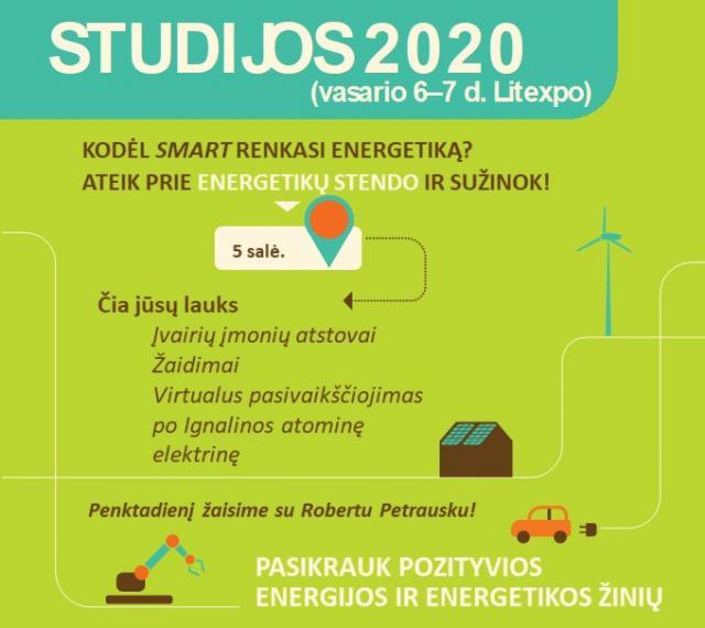 """Parodoje """"Studijos 2020"""" - pažintis su energetika"""