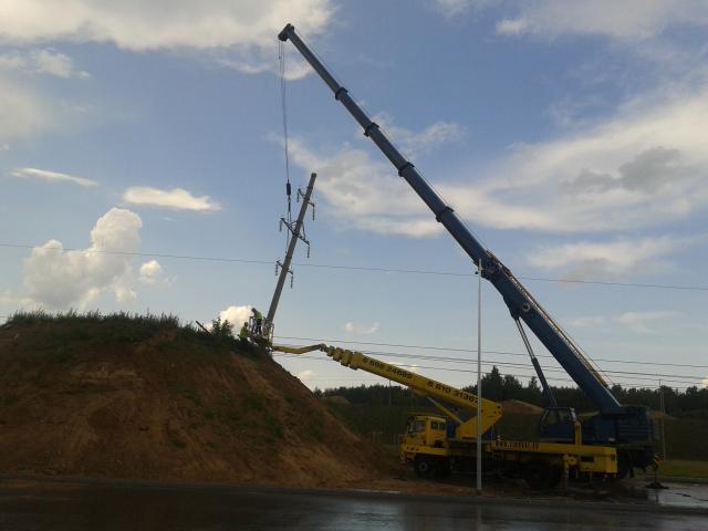 Vilniaus aplinkkelio statybas greitina pradėtas elektros linijų iškėlimas