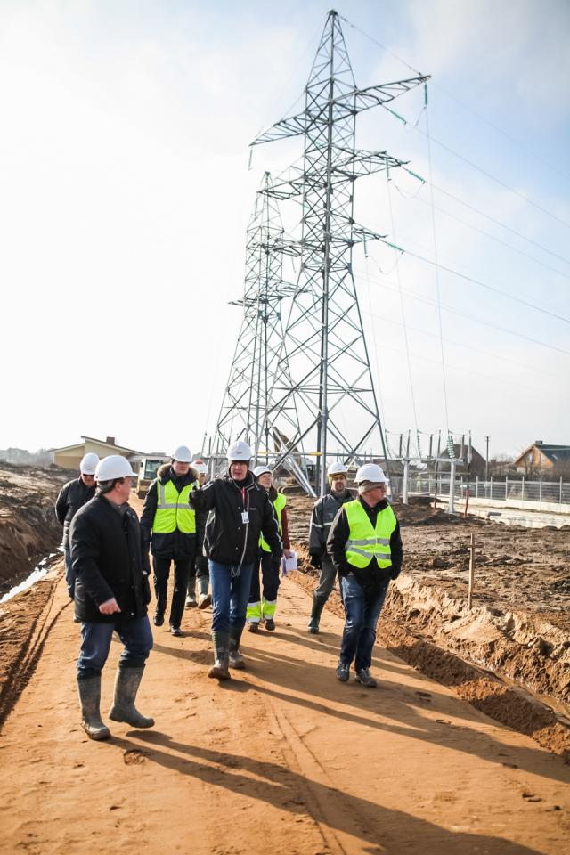 Swedish contractors start working on the construction site of the key facilities of the NordBalt power link